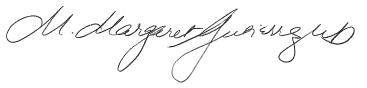 dr. margaret gutierrez signature